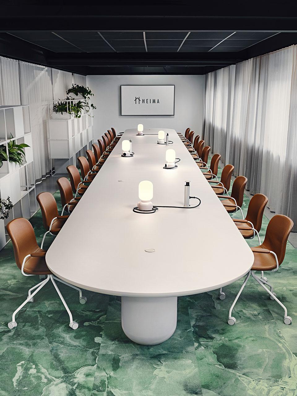 Creative bord på Heima kontorshotell